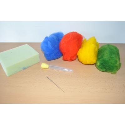 Balíček pro plstění vlny - barevný
